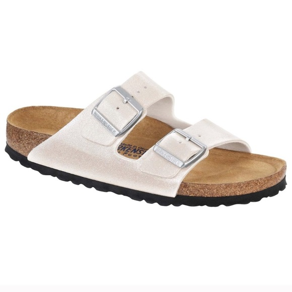 Birkenstock Shoes   Sparkly White